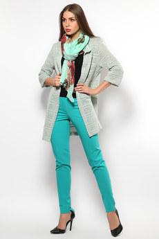 Женские бирюзовые брюки Mondigo