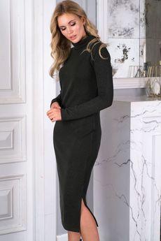Изумрудное платье лапша Look Russian