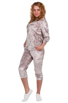 Велюровый костюм с бриджами ElenaTex