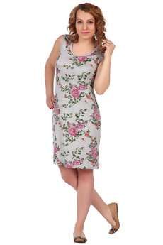 Серое платье без рукавов ElenaTex