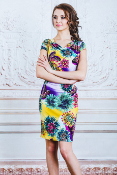 Платье с воротом качель Look Russian