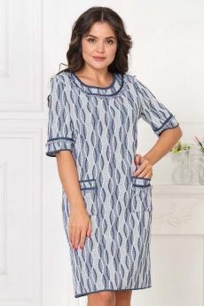 Вязаное платье цвета джинс Текстильная мануфактура