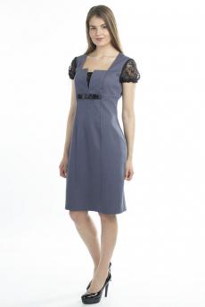 Серо-синее платье футляр Bast